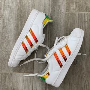 Adidas Superstar Iridescent Sneakers Sz 5